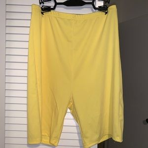 Pants - Yellow biker shorts